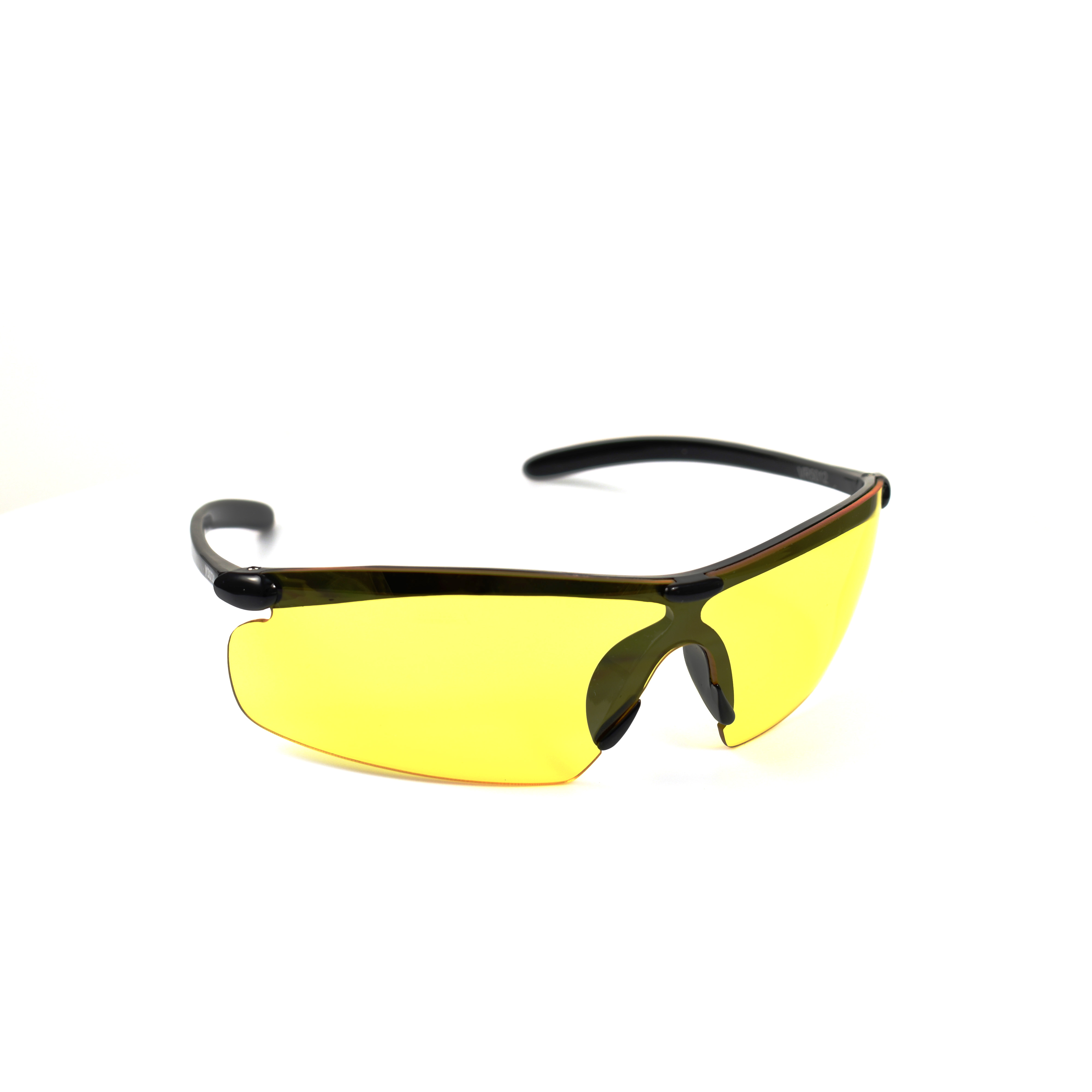 Black Sports Yellow Lenses  for Low-Light Conditions